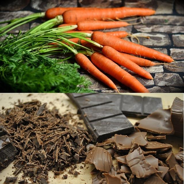 → boules aux carottes et auchocolat